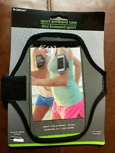 Universal Sports Running Arm Band Phone Case Holster Adjustable GRAY / BLACK NEW