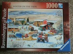 JIGSAW by RAVENSBURGER LTD   *** WINTER ON THE FARM *** 1000 PIECES - USED
