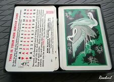 KEM Plastic Playing Cards Set Flamingo Design 1961