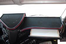 Iveco Stralis Hi-Way Passform 2x Tisch Ablage Armaturentisch Velour Schwarz Rot