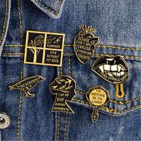 Vintage Women Enamel Brooch Pin Shirt Collar Lapel Pin Necktie Clip Jewelry New