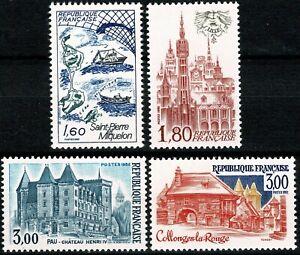 FRANCE 1982 SÉRIE TOURISTIQUE   YT n° 2193 à 2196 Neufs ★★ luxe / MNH
