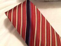 Vintage VALENTINO CRAVATTE Tie Valentino Diagonal Striped Tie Silk Tie Italy Red