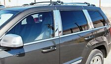 Jeep Grand Cherokee chrome PILLAR POST TRIM molding polished stainless steel