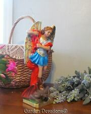 "12"" ST. MICHAEL ARCHANGEL STATUE Chalkware **ITALY** ~ NEW!"