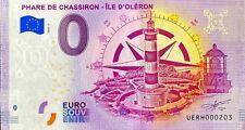 BILLET 0  EURO PHARE DE CHASSIRON  FRANCE 2020 N°  DIVERS
