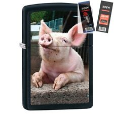 Zippo 29394 Pig Dreaming Lighter with *FLINT & WICK GIFT SET*