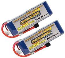 Overlander 2x LiPo Battery 2200mAh 3S 11.1v 35C Deans RC Plane Flight Pack New