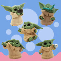Baby Yoda Mini 5Pcs Action Figure Star Wars Mandalorian Series Jedi Master Toys