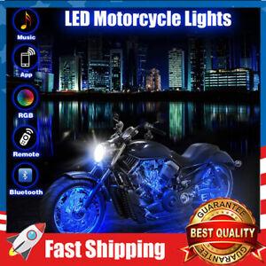12PCS Motorcycle LED Lights 18 RGB Colors for Harley Davidson Suzuki BMW