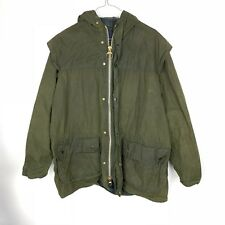 Vintage Barbour A5 Lined Durham Mens C40/102cm Hooded Wax Jacket