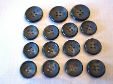15 New Genuine Horn Sewing Buttons Rochester Gray Suit Coat Jacket Blazer Italy
