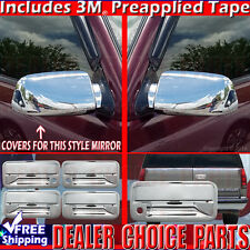1992-1999 SUBURBAN 1995-1999 TAHOE Chrome Door Handle Tailgate Mirror COVERS 4DR