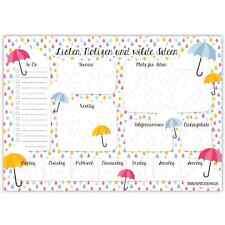 Papierdrachen Schreibtischunterlage DIN A2 - Regenschirm