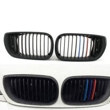 For BMW E46 Front Grille 2002-05 3 Series 320i Kidney Style Matte Black M-Color