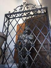 "Window Grid Spanish Revival Style Boxed Iron Window Treatment 80 X50"""