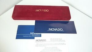 Movado Vintage Red Long Type Men's Watch Box Perfect Condition