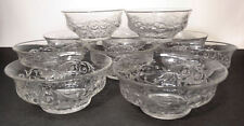 McKee ROCK CRYSTAL Depression Glass Clear Cereal Finger Bowls Set of 10