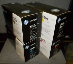 Lot of Genuine HP 507A Toner Cartridges ~ All 4 Colors ~ NEW