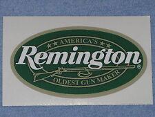 REMINGTON FIREARMS OLDEST GUNMAKER Green & Gold VINYL STICKER DECAL GUN Free SHI