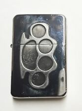 Brass Knuckles / Metal Flip Top Refillable Oil Lighter