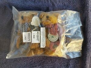 Vintage Boyd's Bears Bear Necessities Christmas Plush Ornaments Jointed Tags On