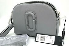 NWT Marc Jacobs Shutter Small Pebbled Leather Camera Crossbody Bag In Rock Grey