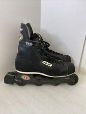 BAUER H1 Off Ice Hockey Inline Roller Blades Skates Mens Size 12 D Black NHL