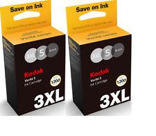 New Genuine Kodak Verite 5 3XL Blk 2PK Ink Cartridges Verite 65 Eco Verite 55SE