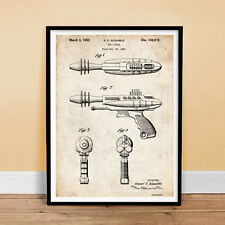 RAY GUN Toy Pistol Patent Print 18x24 Poster Vintage Repro New Robot NICE GIFT