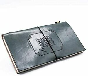 Grey Handmade Leather Journal - Important Things to Do