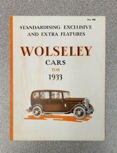 1933 Wolseley Sales Folder