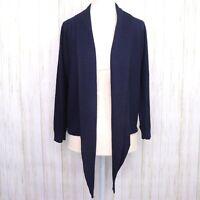 Tommy Hilfiger Navy Draped Cardigan Size XS Womens Open Front euc