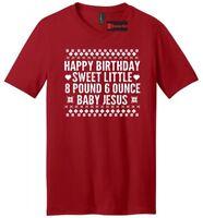 Happy Birthday Baby Jesus Christmas Mens V-Neck T Shirt Cute Ugly Sweater Xmas