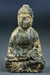 Exquisite Chinese Old Jade Hand Carved *Buddha* Pendant/Statue H71