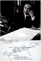 1959 Composer MENOTTI Hand SIGNED AUTOGRAPH Apocalypse + PHOTO + DECORATIVE MAT