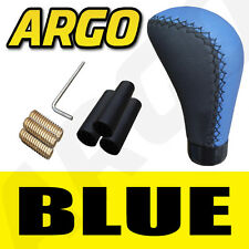 BLUE & BLACK LEATHER CAR GEAR SHIFT LEVER KNOB KIA LANCIA