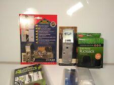 Bundle Vintage Door Locks and Alarms Hardware Doorstop Alarm Hasp Padlock etc