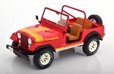 Mcg 1976 Jeep CJ-7 Renegado Rojo 1/18 Escala Nueva Versión!