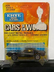 1/64 ERTL CARS OF THE WORLD #1618 PONTIAC FIREBIRD TRANS AM BLACK