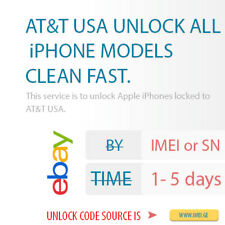AT&T USA UNLOCK ALL iPHONE MODELS - CLEAN FAST