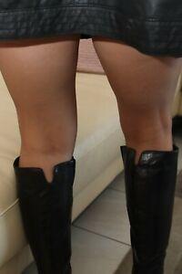 Da. Strumpfhose 15 den. seiden matt CASTORO braun Neu Durchsichtig Pantyhose