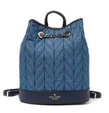 NWT KATE SPADE briar lane quilted denim bucket backpack BAG RT $349+ TAX