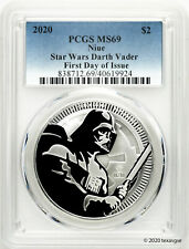 2020 Niue $2 Darth Vader 1oz Silver Coin PCGS MS69 First Day of Issue