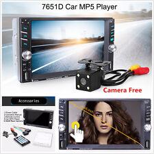 "6.6"" Touch Screen HD 2DIN Car MP5 Media Player FM Bluetooth Stereo Radio +Camera"