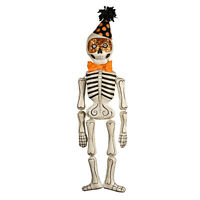 "Bethany Lowe 23"" Mr Bones Party Skeleton Halloween Retro Vntg Decor Ornament"