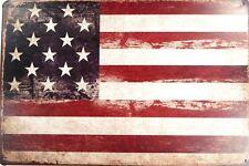 US SELLER, outdoor metal signs USA American Flag patriotic metal tin sign