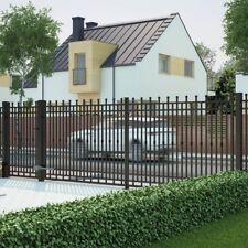 Elegantes Einfahrtstor Hoftor elektrisch KUGEL schwarz 400 x 160 cm