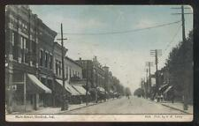 Postcard DUNKIRK Indiana/IN  Main Street Business Storefronts 1907