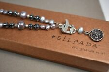 Silpada Sterling Silver, Hematite, Glass, Pearls & Shell Necklace N1784
